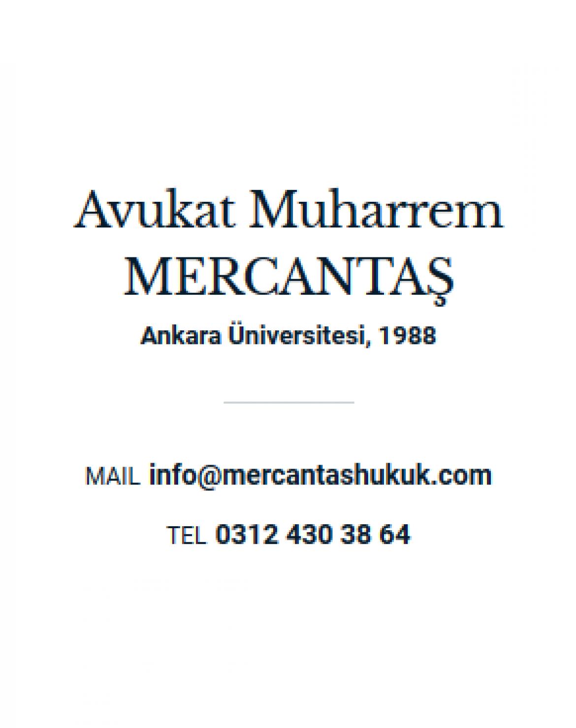 Avukat Muharrem MERCANTAŞ
